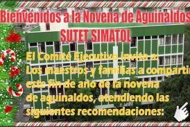 Bienvenidos a la Novena de Aguinaldos SUTET SIMATOL