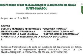 Oficio aspirante a la presidencia de la República de Colombia